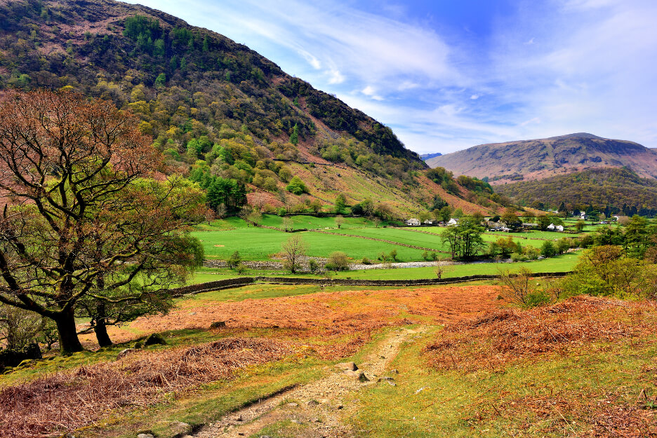 October Half Term in the Lake District Borrowdale Valley in Autumn