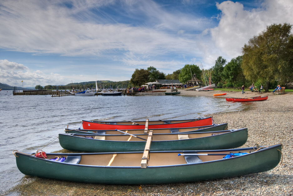October Half Term in the Lake District Canoes on Coniston Water