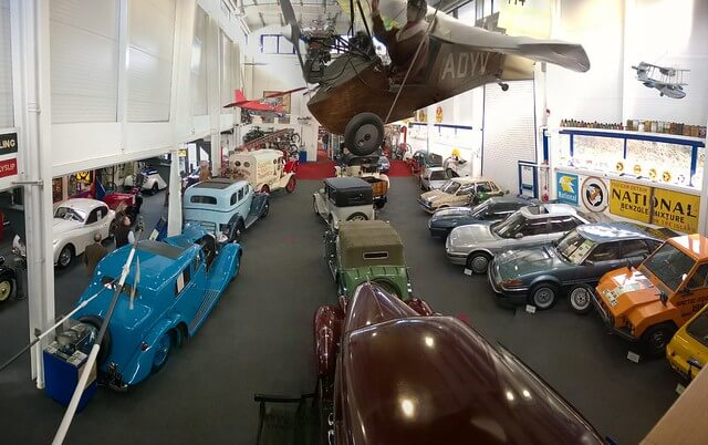 Inside the Lakeland Motor Museum