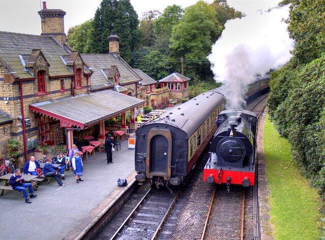 Steam Train at Haverthwaite Railway Station