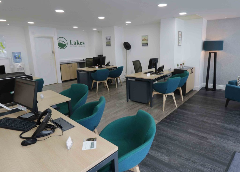 Lakes Cottage Holidays office interior in Windermere