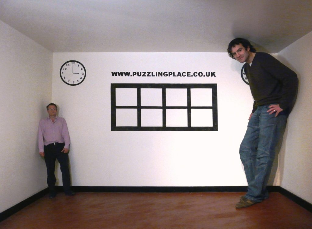 Image of BBC Presenter Michael Mosley with Andy Wallace at Puzzling Place in Keswick