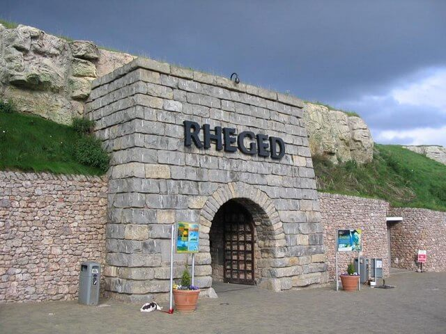 The entrance of the Rheged Centre near Penrith