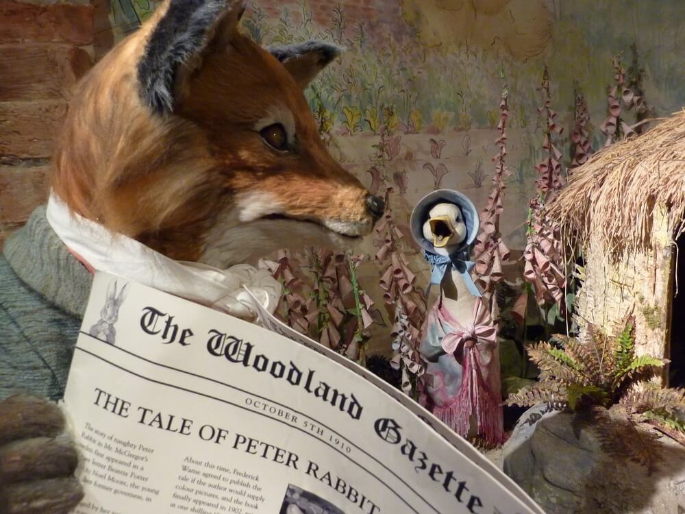 Jemima Puddleduck at the World of Beatrix Potter Attraction