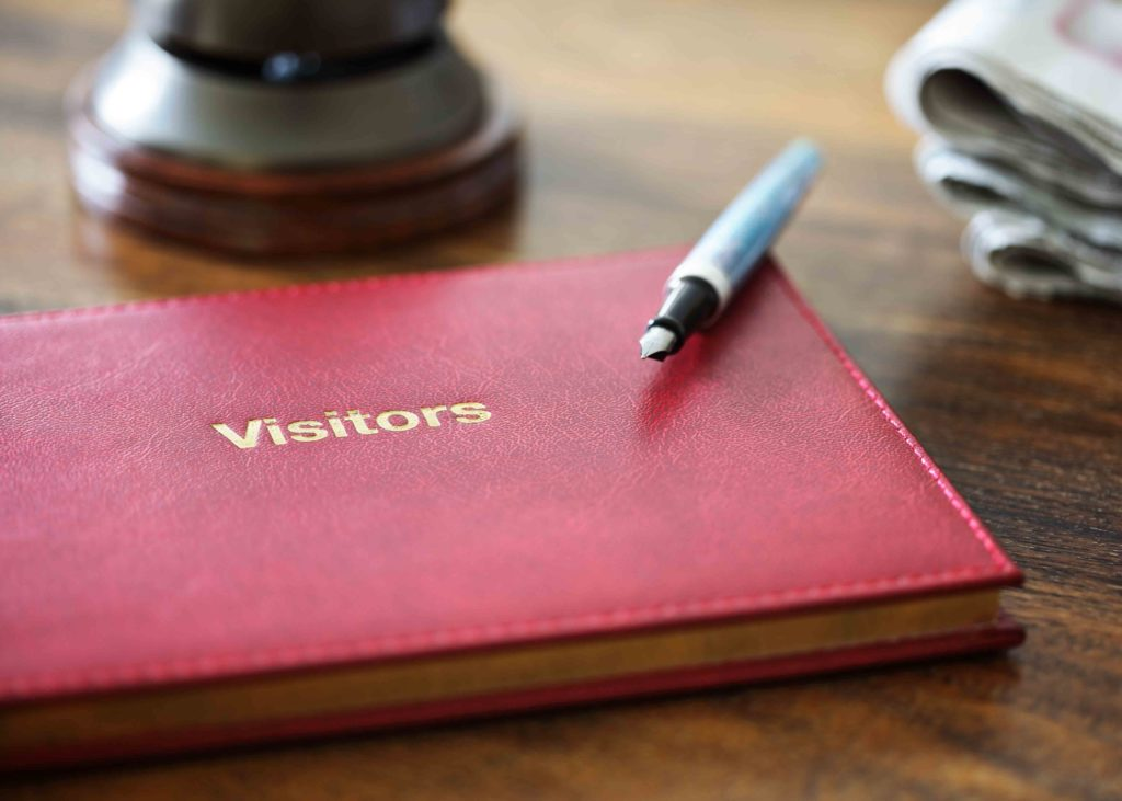 Visitors book for guest feedback in a holiday cottage