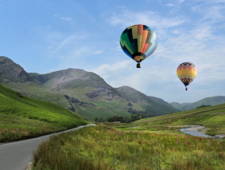 Hot Air Balloons above the Lake District