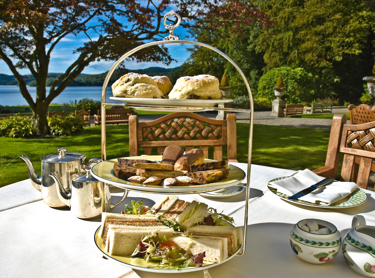 Afternoon Tea at Storrs Hall Hotel, Bowness