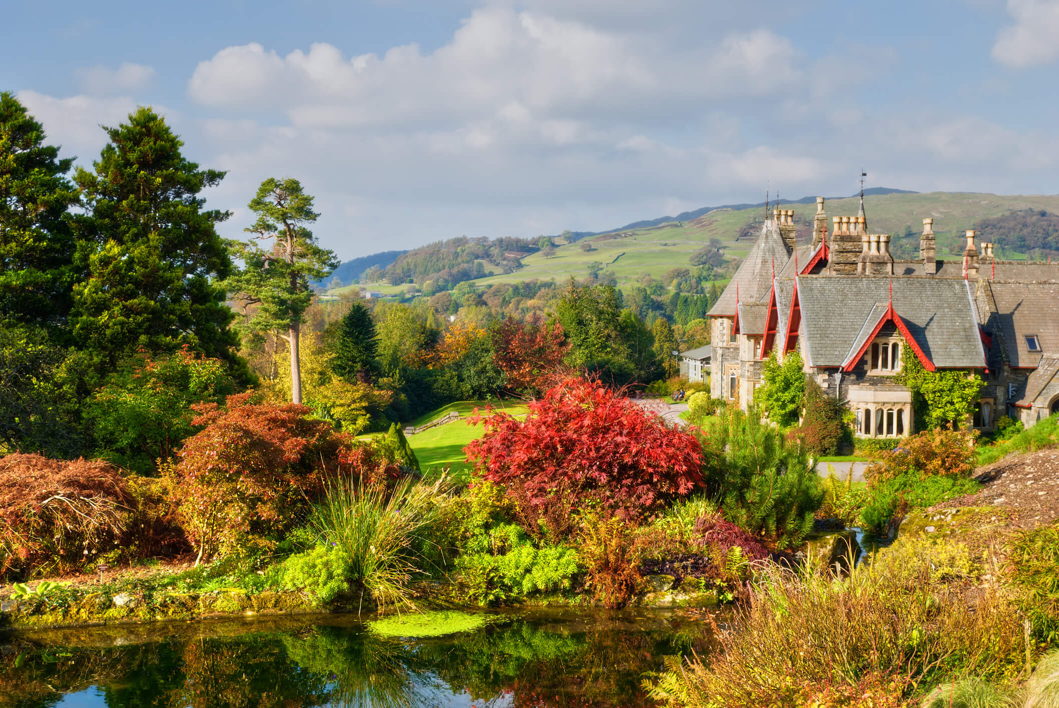 English Country Estate in Autumn